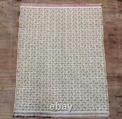 Vintage Indien Brocade Silk & Metal Pictorial Textile