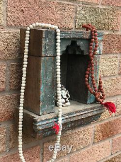 Vintage Indien Sacré Hindou Accueil Temple Sanctuaire En Bois Autel Puja Hanging Arquéesles