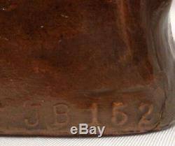 Vintage Jennings Brothers Amérindien W Bird Dog Bronze Métal Bookends