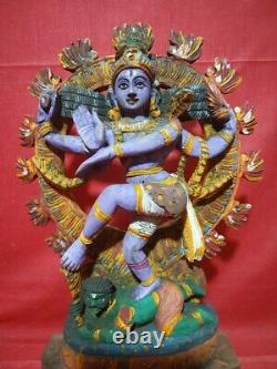 Vintage Natraj Shiva Sculpture Temple Hindu Dieu Nataraj Statue Murti Ancien