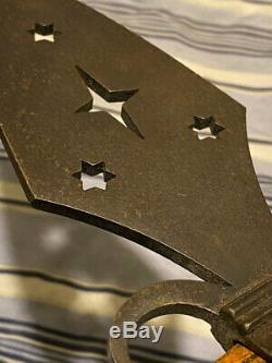 Vintage Pipe Ax Indian Tomahawk Esponton Style Star Sunburst Cutaway Lame