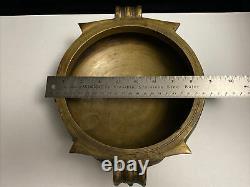 Vintage South Indian Laiton Ou Bronze Urli 9/22cm Bateau De Cuisine