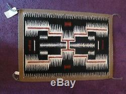 Vintage Tapis Amérindien Saddle Couverture Tempête Navajo Bessie Martin
