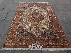 Vintage Traditionnel Indien Fait À La Main Laine Oriental Rug 230x165cm