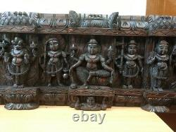 Vintage Wall Panel Hindu God Vishnu Avatar Dashavatar Statue Sculpture Art Décor