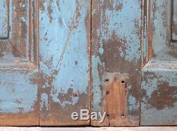 Vintage Worn Peinture Porte En Bois Indienne (ref534)