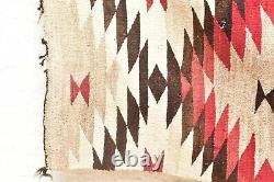 Vtg Navajo Blanket Rug Native Américaine Indienne Tissage Textile Antique 78x43