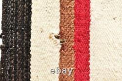 Vtg Navajo Rug Native Américaine Indienne Tissage Textile Antique 45x32 Eye Dazzler