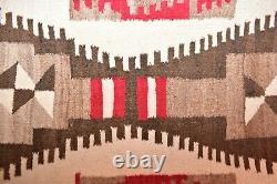 Vtg Navajo Rug Native American Indian Weaving Textile 40x20 Antique Transitional