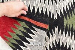 Vtg Tissage Textile Américain Indigène Tapis Indien Navajo 41x22 Antique Eye Dazzler