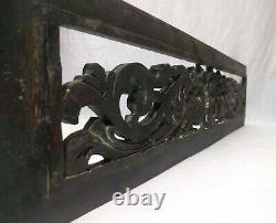Wall Hanging Wooden Panel Antique Dragon Hand Carved Vintage Estate Décoration De La Maison